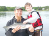 Father and son fishing charter